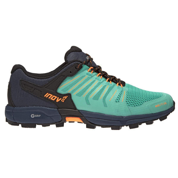Inov-8 Womens Roclite G 275 - Lightweight Trail Running OCR Shoes - Graphene Grip - for Obstacle, Spartan Races and Mud Running - Teal/Navy / 11