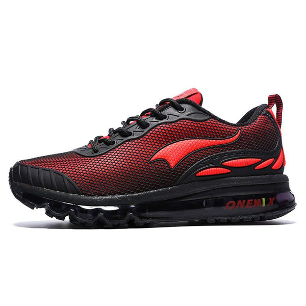 ONEMIX Men's Cushion Running Shoe - Black/Red / 11