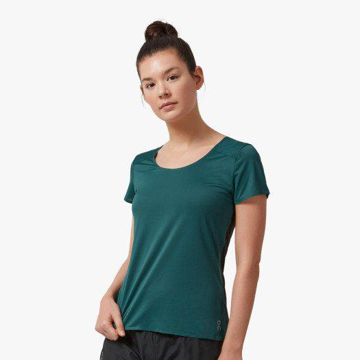 ON Running Women's Performance-T - Evergreen/Black / Large