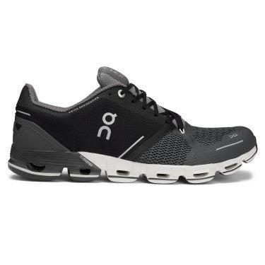 On Running Men's Cloudflyer Running Shoe - Black/White / 10