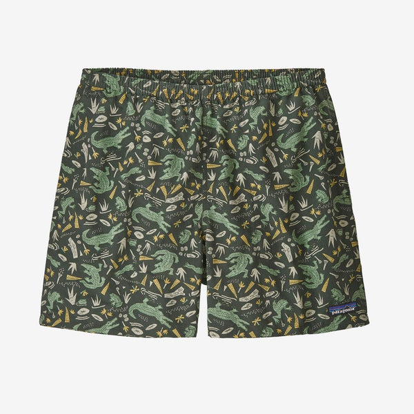 "Patagonia Men's Baggies Shorts 5"" - ALLIGATORS AND BULLFROGS: KALE GREEN / M"