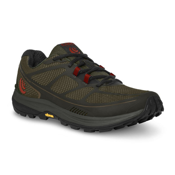 Topo Athletic Men's Terraventure 2 Running Shoes - Olive/Red / 10