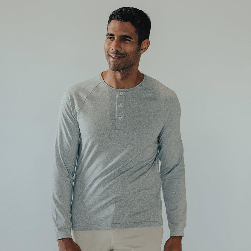 The Normal Brand Men's LS Puremeso Henley - [variant_title]