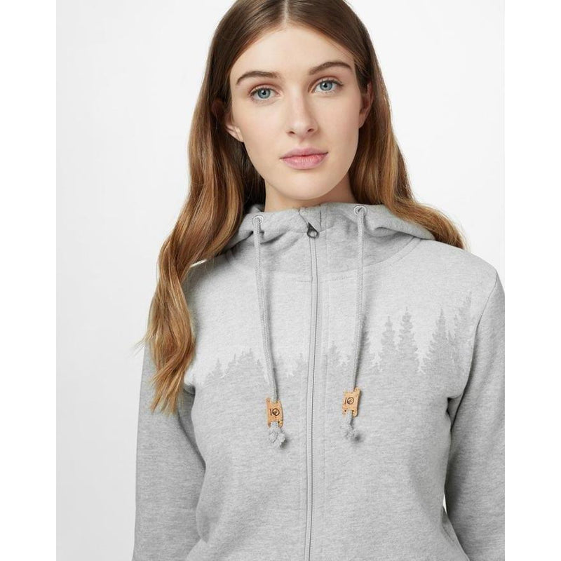 Tentree Women's Juniper Zip Hoodie - Hi Rise Grey Heather / Large