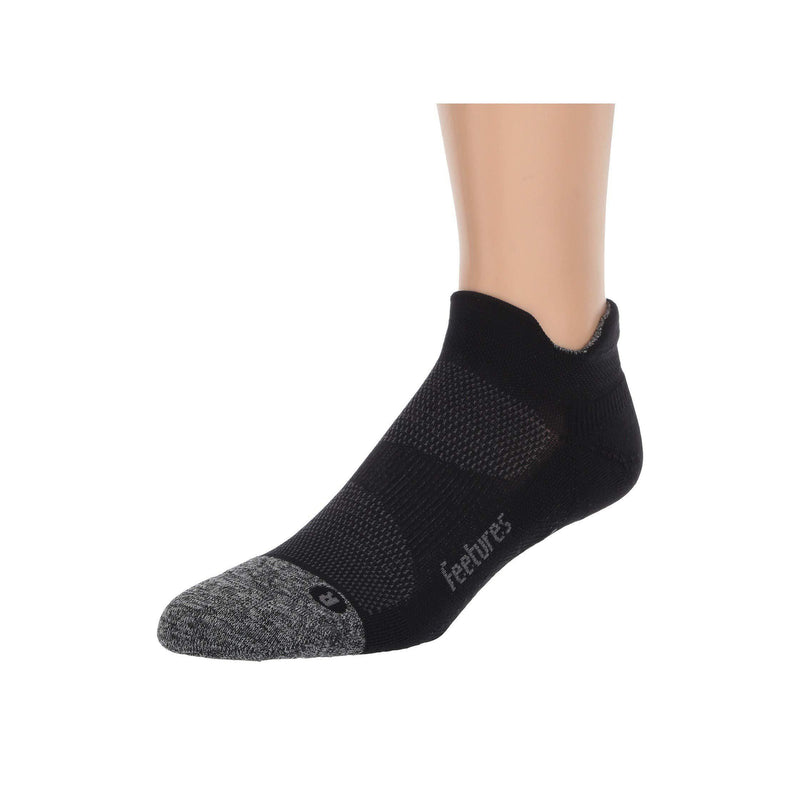Feetures Unisex -Elite Light- No Show Tab -Athletic Running Socks - Black / Extra Large