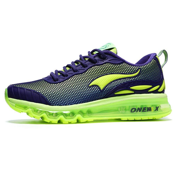 ONEMIX Men's Cushion Running Shoe - Purple/Fluorescent / 10