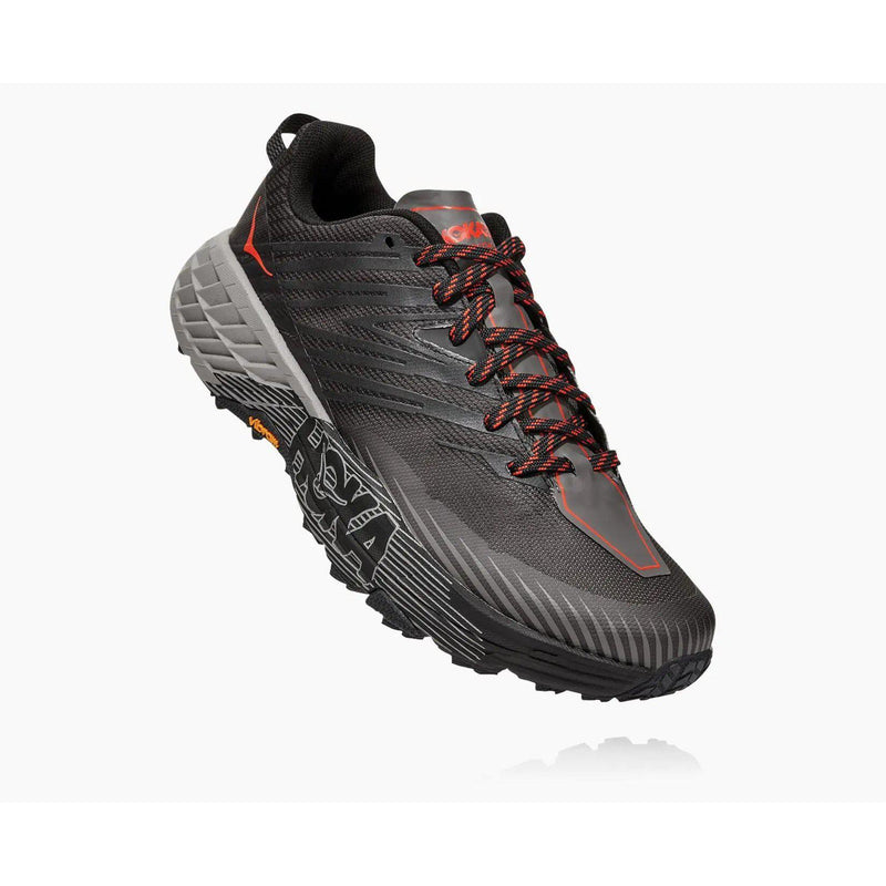 Hoka One One Men's Speedgoat 4 Trail Running Shoe - Dark Gull Grey/Anthracite / 10