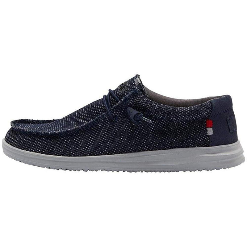 Hey Dude Men's Wally Free Loafer - Navy Grey / 10