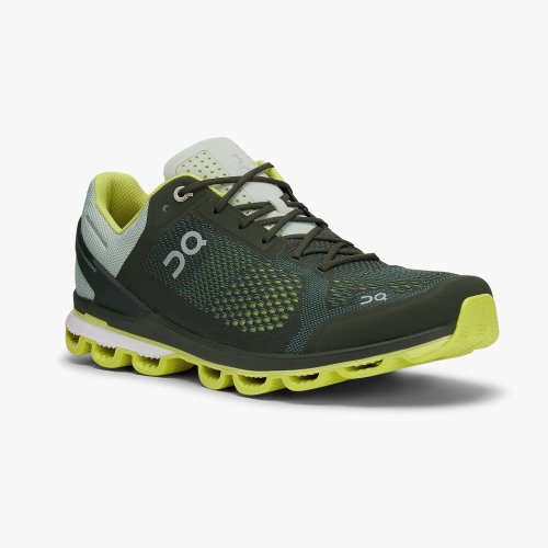 ON Running Men's Cloudsurfer Running Shoes - Jungle/Lime / 9