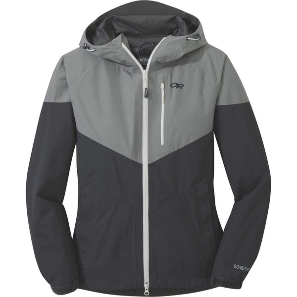 Outdoor Research Women's Aspire Jacket - Light Pewter/Storm / Large