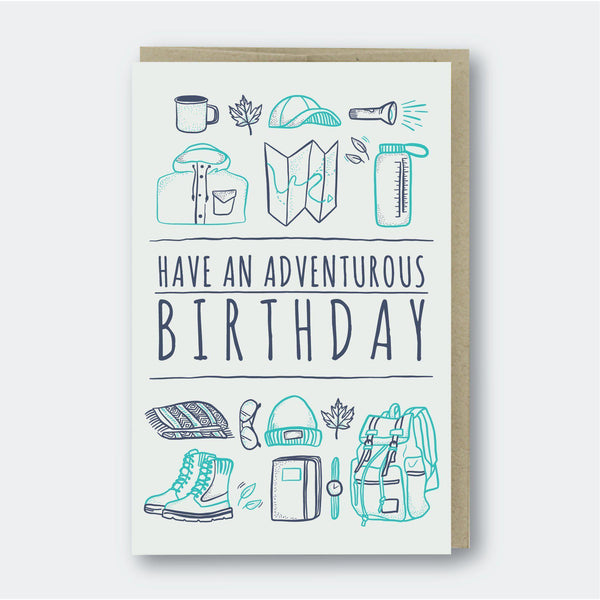 Pike Street Press Adventurous Birthday Card - Default Title