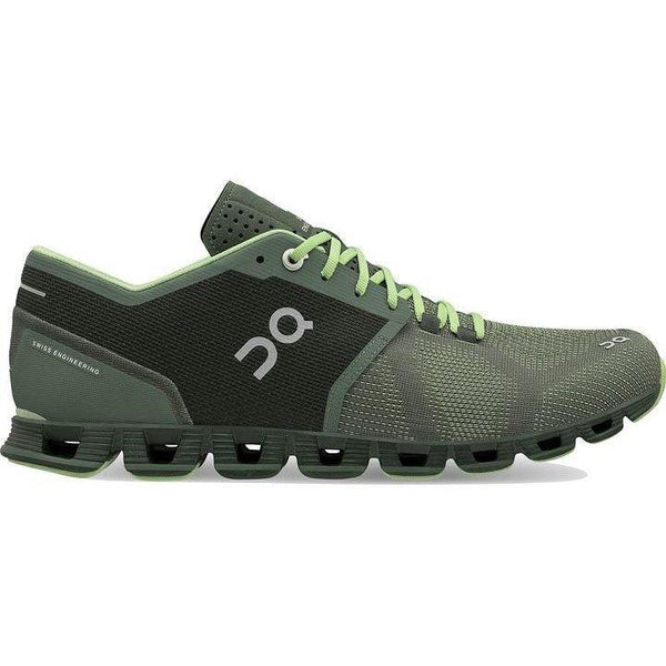 ON Running Men's Cloud X Running Shoes - Forest/Jungle / 9