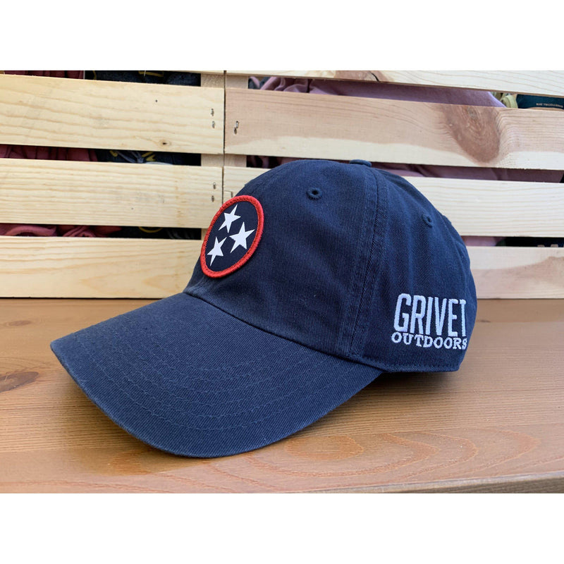 Grivet Outdoors Tennessee State Tri Star Cloth Patch Dad Hat - [variant_title]