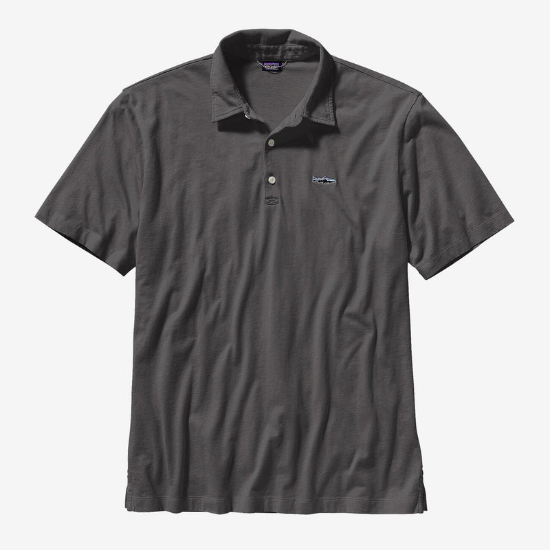 Patagonia Men's Polo- Trout Fitz Roy - FORGE GREY / L