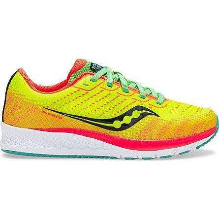 Saucony Big Kid's Ride 13 Running Shoe - Citron/Mutant / 1.5