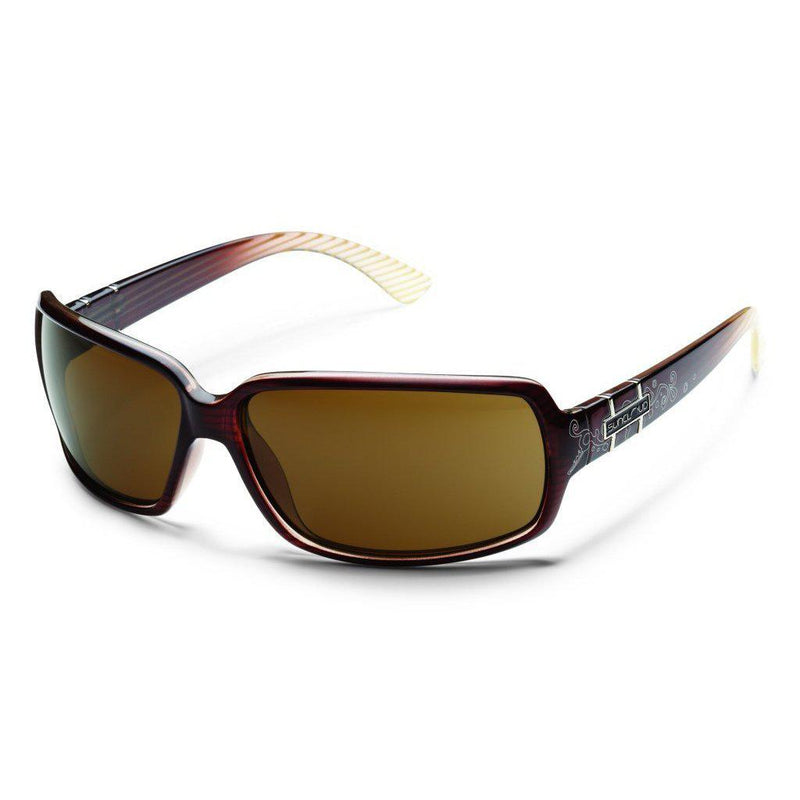 Suncloud Poptown Polarized Sunglasses - Brown Stripe Laser Frame