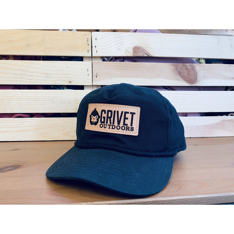 Grivet Outdoors Leather Patch Grandpa Pinch Snapback Hat - [variant_title]