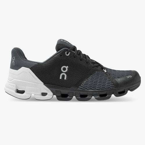 On Running Men's Cloudflyer Running Shoe - Black/White (2nd Gen) / 12