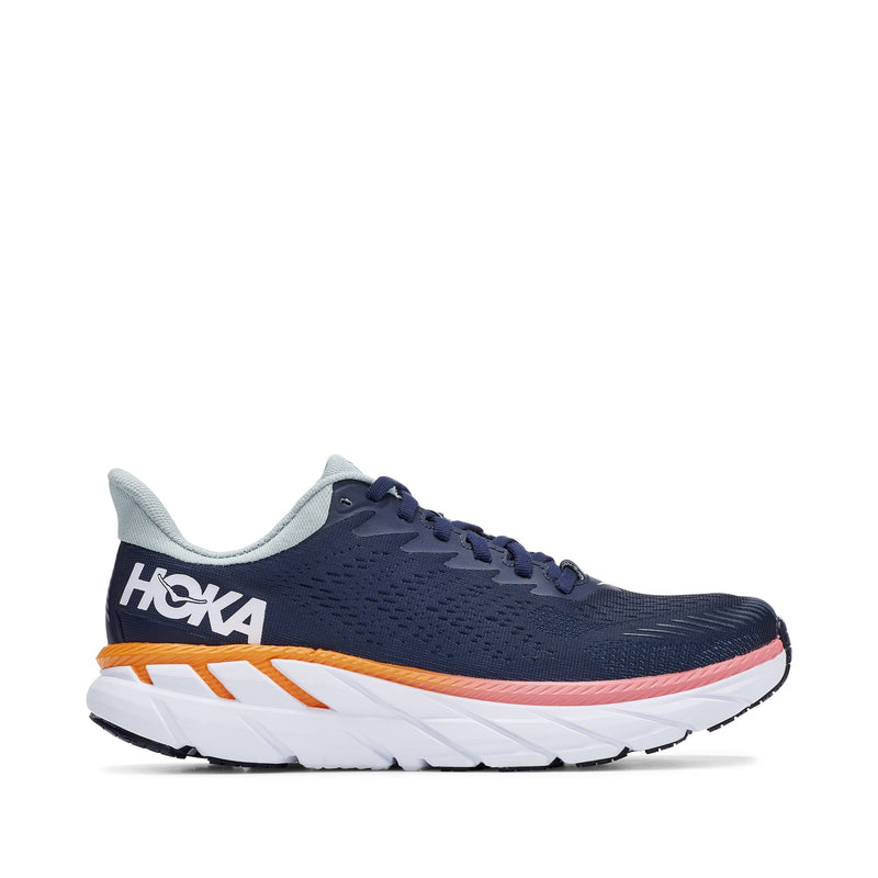 Hoka One One Women's Clifton 7 Running Shoe - Black Iris / Blue Haze / 10