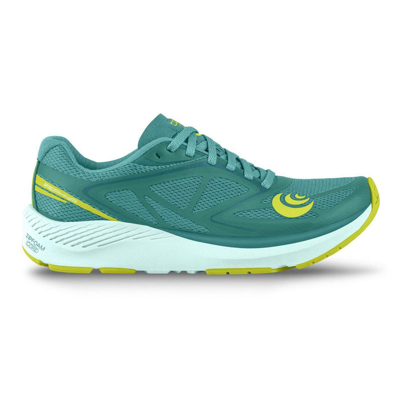 Topo Athletic Womens Zephyr Running Shoe - TEAL/LIME / 10