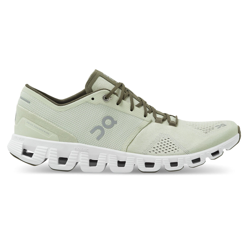 ON Running Men's Cloud X Running Shoes - Aloe/White / 10