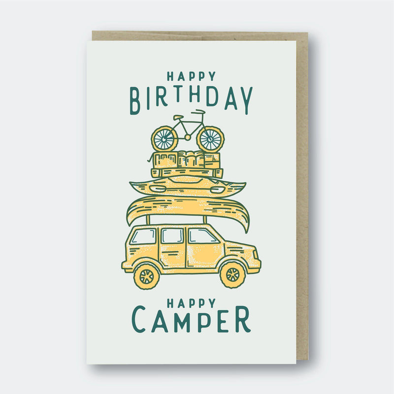 Pike Street Press Happy Camper Card - Default Title