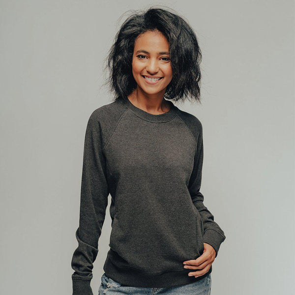 The Normal Brand Women's Puremeso Pocket Pullover - Charcoal / Large
