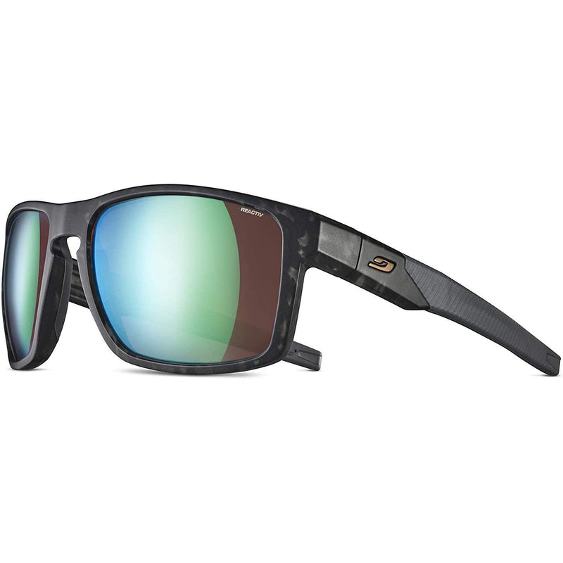Julbo Stream Performance Sunglasses w/REACTIV or Polarized Lens - Gray Tortoise/Black / REACTIV All Around 2-3 Copper Lens w/Multilayer Green Mirror