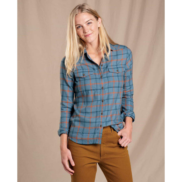 Toad & Co Women's Re-Form Flannel Shirt - North Shore / Large