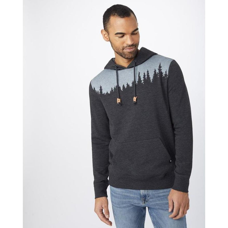 Tentree Men's Juniper Classic Zip Hoodie - Meteorite Black Heather / Large