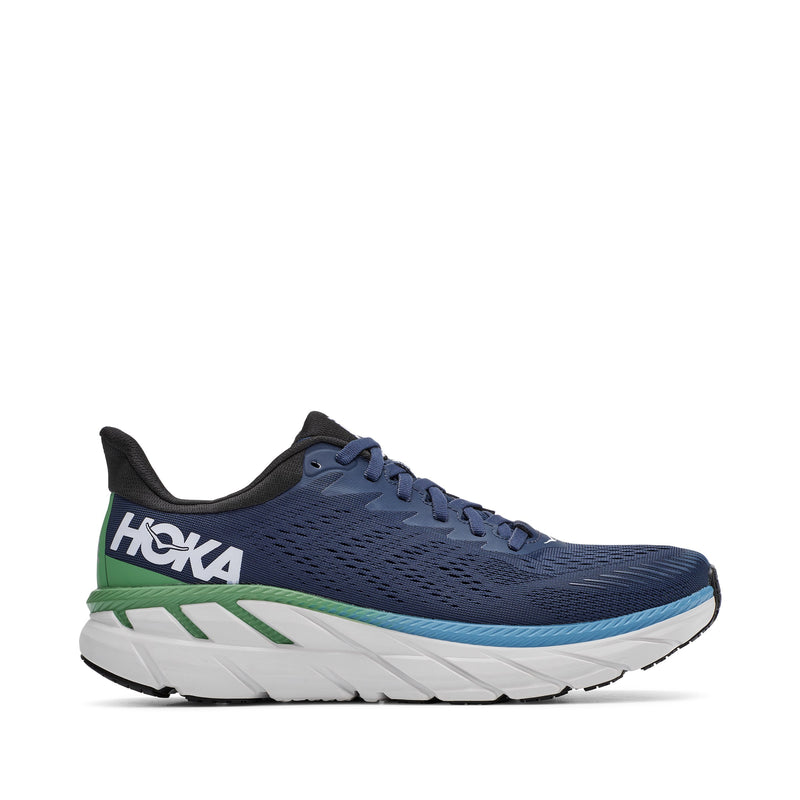 Hoka One One Men's Clifton 7 Running Shoe - Moonlit Ocean/Anthracite / 10