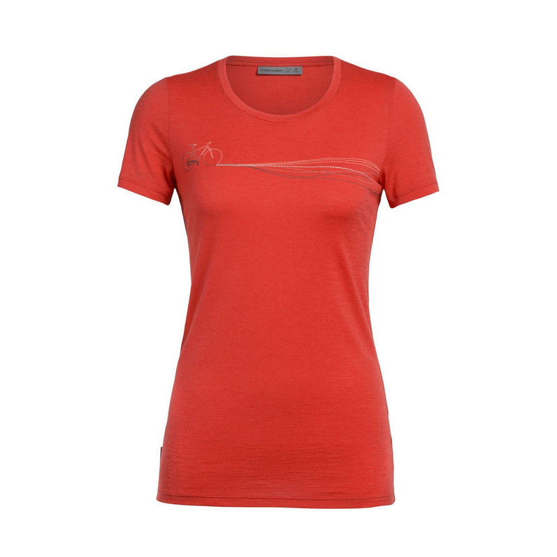 Icebreaker Women's Tech Lite SS Low Crewe Cadence Paths Tee - [variant_title]