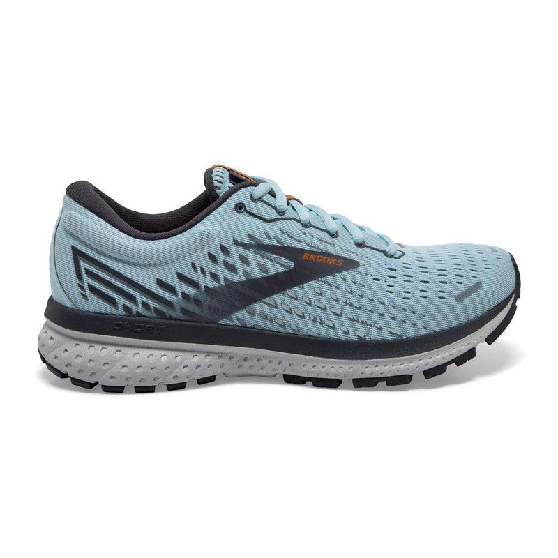 Brooks Women's Ghost 13 Running Shoe - Light Blue/Blackened Pearl/White / 10