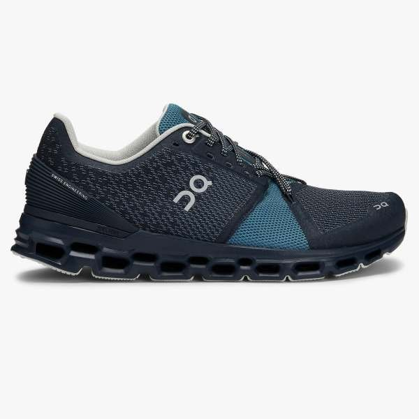 ON Running Women's Cloudstratus Running Shoes - Navy/Dust / 6.5