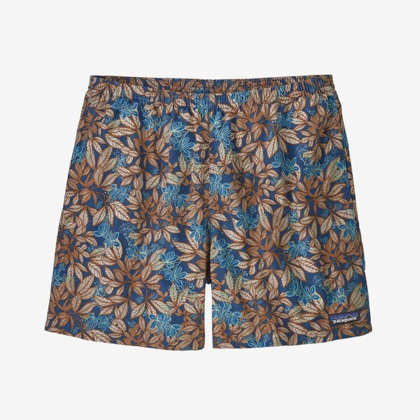 "Patagonia Men's Baggies Shorts 5"" - Hevea Leaves: Superior Blue / Extra Large"