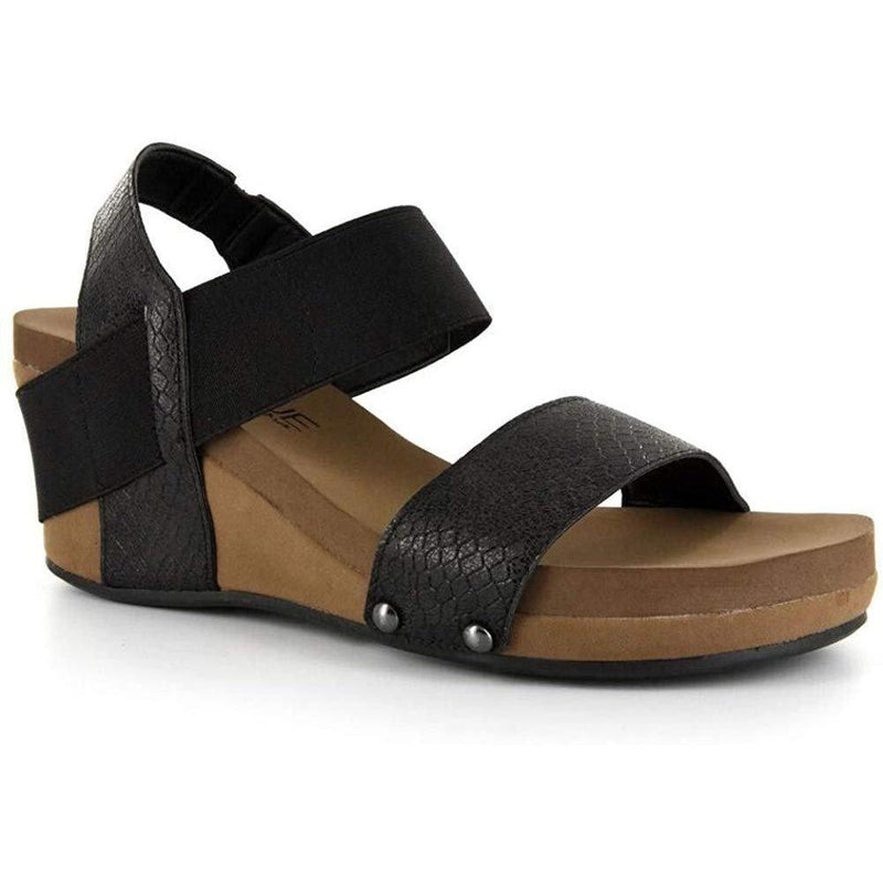 Corkys Footwear Womens Bandit Wedge Sandal - Black / 10