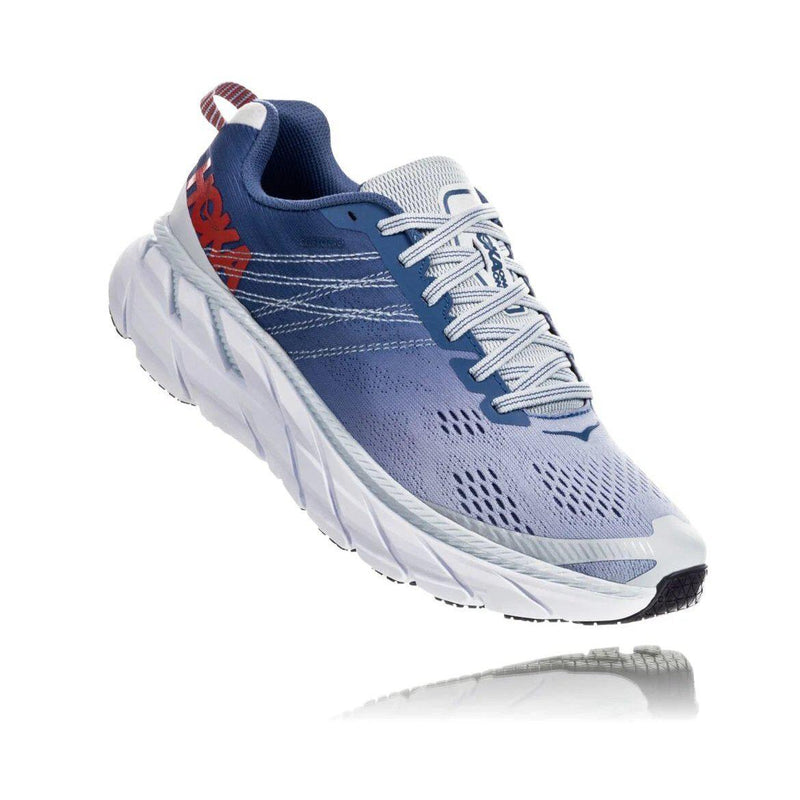 HOKA ONE ONE Womens Clifton 6 Running Shoe - Plein Air/Moonlight Blue / 7