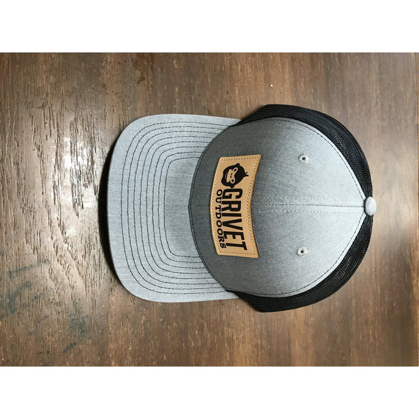 Grivet Outdoors Leather Patch Trucker Hat - [variant_title]
