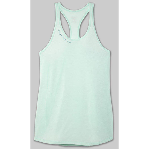 Brooks Women's Distance Graphic Tank - Mint/Good Day / Large