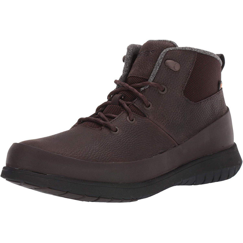Bogs Mens Freedom Lace Mid Waterproof Insulated Winter Snow Boot - Dark Brown / 10