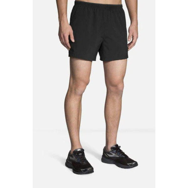 "Brooks Men's Go-To 5"" Short - Black / Extra Large"