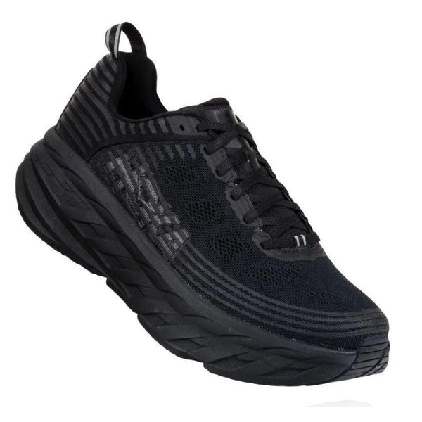 HOKA ONE ONE Women's Bondi 6 Running Shoe - Black/Black / 10.5