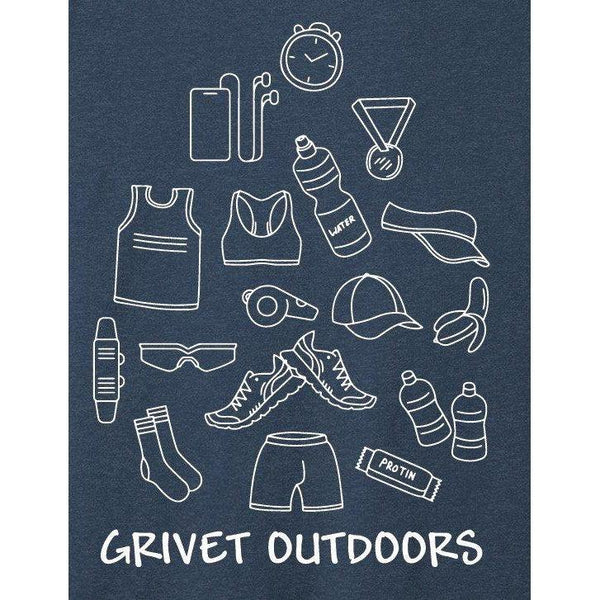 Grivet Outdoors Tee | Run Cloud - Blue w/ White / Extra Large