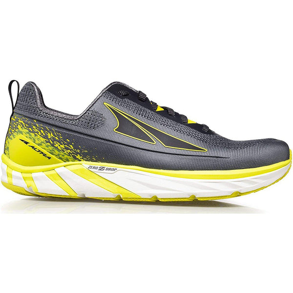 Altra Men's Torin 4 Plush Road Running Shoe - Gray/Lime / 12.5