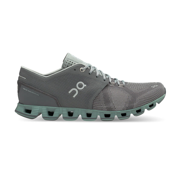 ON Running Men's Cloud X Running Shoes - Rock/Sea / 12