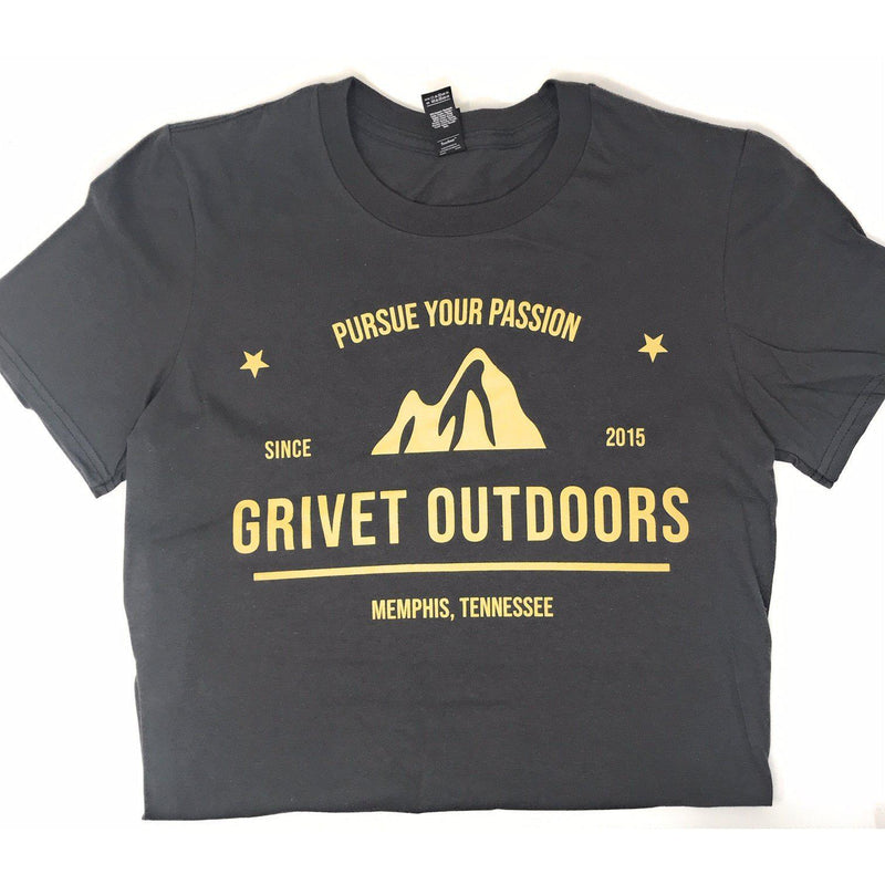Grivet Outdoors Men's Cotton T-Shirt-Mtn. Pursue Your Passion - [variant_title]