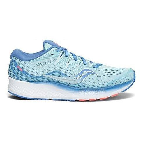 Saucony Women's Ride ISO 2 Running Shoe - BLUE/CORAL / 10