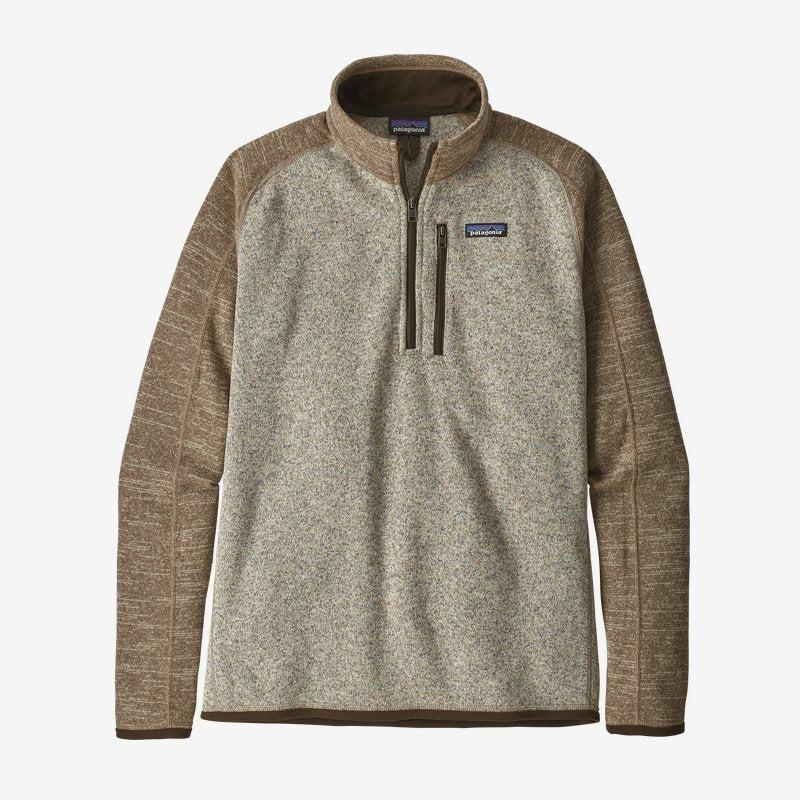 Patagonia Men's Better Sweater 1/4 Zip - Bleached Stone w/ Pale Khaki / Extra Large