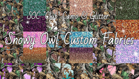 "SOC ""Club"" Camouflage & Faux Printed Glitter"