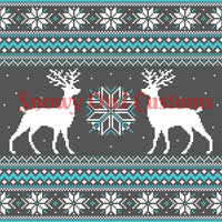 Blue Deer Sweater Print 2016 - **CLEARANCE**